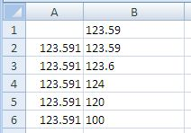Excel Fixed Function Results