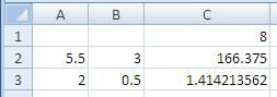 Excel Power Function Results