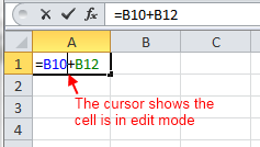 Excel Cell in Edit Mode