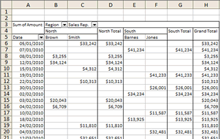 Advanced Pivot Table in Excel 2003