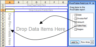 Add Fields to Excel 2003 Pivot Table