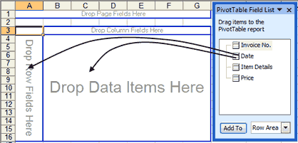 Pivot Table and Field List in Excel 2003