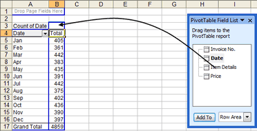 Pivot Table Field List in Excel 2003