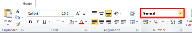 Excel Format Cells Drop Down Menu on Ribbon